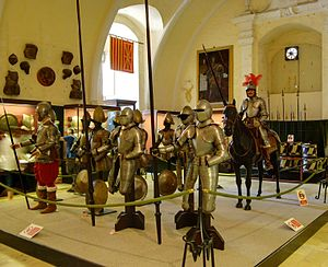 Palace Armoury - Suits of armour at the Palace Armoury