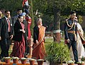 Manmohan Singh, Smt. Gursharan Kaur and the Chairperson, National Advisory Council, Smt. Sonia Gandhi arrive for the 'At Home` reception, hosted by the President, on the occasion of the 64th Republic Day celebrations.jpg