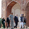 Manmohan Singh, the Prince Karim Aga Khan and the Union Minister for Culture, Smt. Chandresh Kumari Katoch visit the Humayun's Tomb for the ceremony to mark the completion of restoration work, in New Delhi (1).jpg