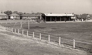 Nuneaton Town F.C. - Old Main Stand at Manor Park