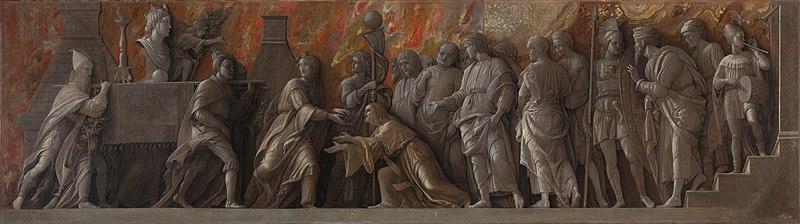 File:Mantegna, introduzione del culto di cibele a roma.jpg