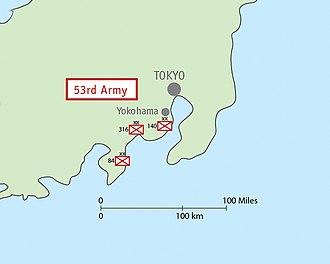 Fifty-Third Army (Japan) - Image: Map IJA Army, 53rd