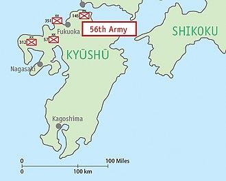 Fifty-Sixth Army (Japan) - Image: Map IJA Army, 56th