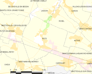 Battle of Le Mesnil-Patry - Image: Map commune FR insee code 14543