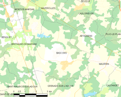 Map commune FR insee code 40025.png
