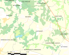 Map commune FR insee code 40070.png