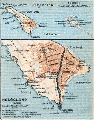 Helgoland (Bruckner) - A map of Heligoland from 1910, 14 years after Bruckner's death