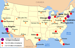 Map of American urban areas by size.svg