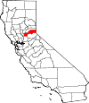 State map highlighting Placer County
