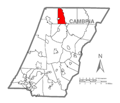 Map of Elder Township, Cambria County, Pennsylvania Highlighted.png