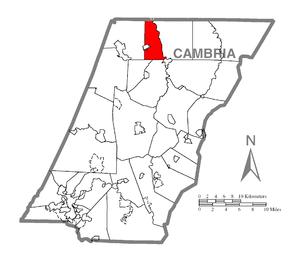 Elder Township, Cambria County, Pennsylvania - Image: Map of Elder Township, Cambria County, Pennsylvania Highlighted