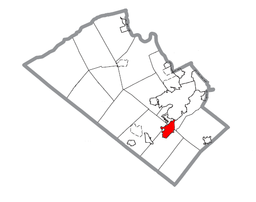 Map of Emmaus, Lehigh County, Pennsylvania Highlighted