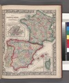 Map of France, Spain, and Portugal; Switzerland in cantons (inset); Island of Corsica (inset). NYPL1510829.tiff