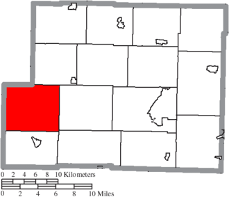 Washington Township, Harrison County, Ohio - Image: Map of Harrison County Ohio Highlighting Washington Township