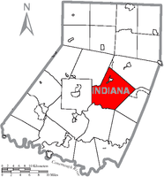 Map of Indiana County, Pennsylvania Highlighting Cherryhill Township