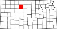 Map of Канзас highlighting Rooks County