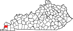 State map highlighting Carlisle County