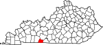 State map highlighting Simpson County