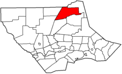 Map of Lycoming County Pennsylvania Highlighting McIntyre Township.png