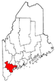 Map of Maine highlighting Cumberland County.png
