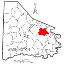 Map of Nottingham Township, Washington County, Pennsylvania Highlighted.png