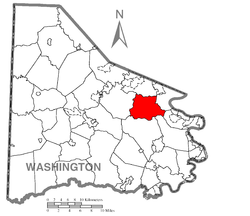 Location of Nottingham Township in Washington County