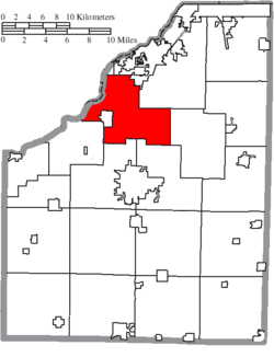 Location of Middleton Township in Wood County