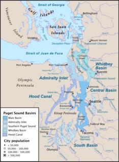 Puget Sound region Region around Puget Sound in Washington