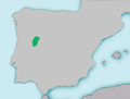 Mapa Achondrostoma salmantinum.png