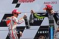 Marc Márquez and Valentino Rossi 2013 Assen 5.jpg