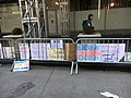 March for Our Lives 24 March 2018 in NYC 19, signs left by protesters at the end, Sixth Avenue, Manhattan, New York.jpg
