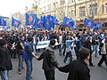 Marching down on Rustaveli Avenue toward the Parliament. April 9, Day 1. 2009.jpg