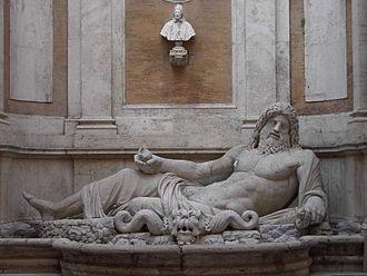 Talking statues of Rome - Marforio at the Musei Capitolini