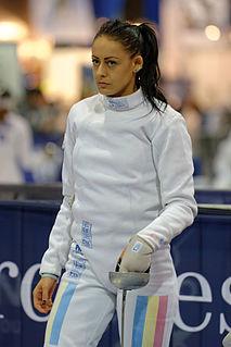 Maria Udrea Romanian fencer