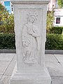 Maria column. Relief of Our Lady of Sorrows. - Vác.JPG