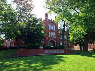 Marshall University - Old Main is the oldest building on campus and home to many of the university's administrative offices.