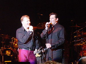 Martin Fry - Fry (left) and Spandau Ballet's Tony Hadley (right) performing live, 2005