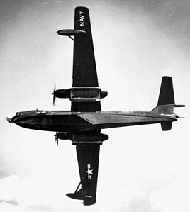 Martin P5M-2 in flight with open bomb bays.jpeg