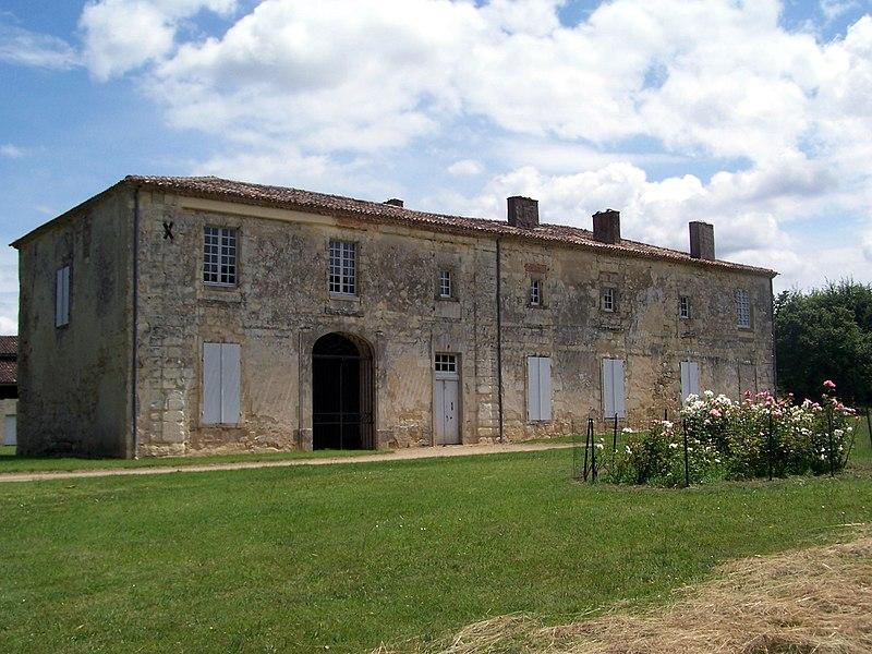 Fontguilhem abbey in Masseilles (Gironde, France)