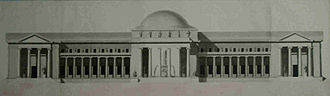 """Mathurin Crucy - Design of a project for """"public mineral water baths"""" for the Prix de Rome, 1774"""
