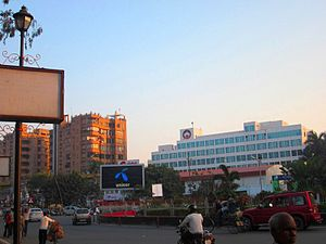 Gandhi Maidan Marg - Maurya lok and twin towers, South Gandhi Maidan Marg