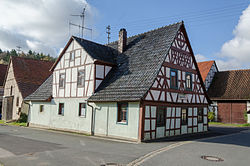 Typical old timber-framed house in Mauschendorf