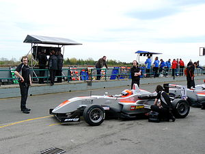 Max Chilton - Chilton qualifying for Hitech Racing at the Croft round of the 2008 British Formula 3 season