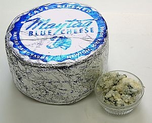 Maytag Blue cheese - Image: Maytag Blue Cheese Package And Ramekin
