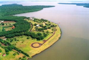 Air view of the Itaipú Binacional reserve