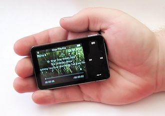 Meizu M6 miniPlayer - Image: Meizu miniplayer m 6 palm