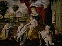 Melchior Lorck - The Virgin Mary and Child, the Infant St.John and two angels - KMS4099 - Statens Museum for Kunst.jpg