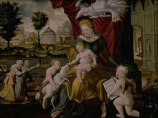 The Virgin Mary and Child, the Infant St.John and two angels