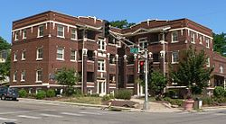 Melrose Apartments (Omaha) from SE 4.JPG