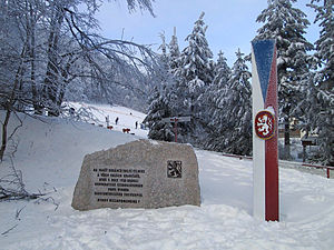State Defense Guard (Czechoslovakia) - Memorial in honour of State Defense Guard at state border in Lusatian Mountains